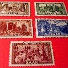 Saar Stamp Set Scott # B77 SP40 Nov., 1950 Precanceled