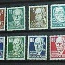 German Democratic Republic Scott's set # 122-136 OS2 Russian Occupation 1948
