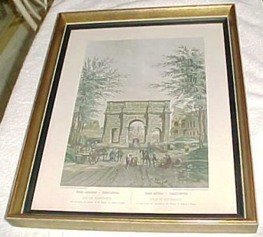 """""""Arch of Constantine"""" built in 312 drawing depicts Eighteenth Century Rome"""