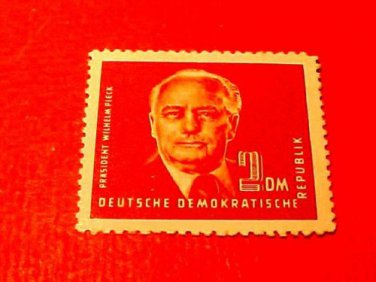 German Democratic Republic Scott's # 57 A10 2m Pres Wilhelm Pieck 1950-51