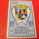 """French Southern and Antarctic Territory Scott #15 """"Coat of Arms"""" Sept.14,1959"""
