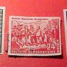 "German Democratic Republic Scott's #82-84 A18 ""Mao Tse-tung"" June 27,1951"