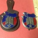 Vintage Enameled French Militaire pins by Drago G2271s pair