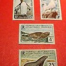 French Southern and Antarctic Territory Scott Set #16-19 A6 25fr. Dec.15,1960