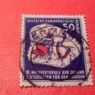 "German Democratic Republic Scott's #88 A20 50pf ""Youth Festival""Aug.3,1951 used"
