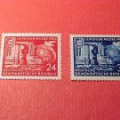 "German Democratic Republic Scott's set #108-9 A30""Leipzig Fair 1952"" Sept.7,1952"