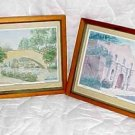 Alamo and San Antonio Riverwalk Set Numbered and signed by the Artist Set of (2)