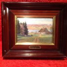 Vintage French Enamel over Convex Copper signed Paul Hey