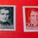 "German GDR Scott's 284-285 A81 Full set""Heinrich Heine"" Feb.17,1956"