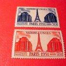France Scott #671+2 A214 Eiffel Tower Nov.6,1951