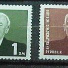 """German Democratic Republic Scott's set #120a-21 A35""""Pres Wilhelm Pieck"""" 1953"""