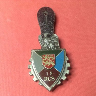 Vintage Enameled French Militaire pin by Drago G2693