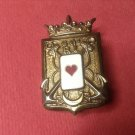 Vintage Enameled French Militaire pin by Drago G136
