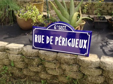 "French Street Sign"" Rue de Perigueux"" 6 Sect. Bordeaux, France"