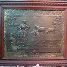 Vintage French Intaglio Copper plate Of French Countryside
