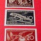 "German GDR Scott's 325-327 A101 Full set""Nature Conservation"" Apr.12,1957"