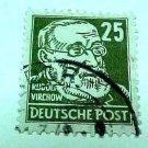 German Democratic Republic Scott's #129 OS2 Russian Occupation 1948 RARE !