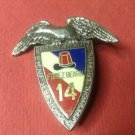 Vintage Enameled French Militaire pin by J.Y.Segalen #1990