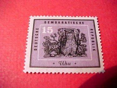 "German GDR Scott's 446 A146 ""Protection of Native Birds"" July 2,1959"
