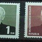 """German Democratic Republic Scott's set #120-21 A35""""Pres Wilhelm Pieck"""" 1953"""