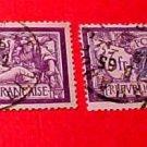 France Scott #128 A18 3fr violet & black Canceled