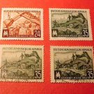 "German Democratic Republic Scott's set #172-3 A44 ""Road Building"" Aug.29,1953"
