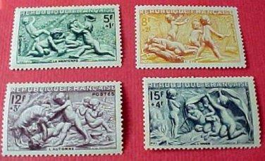 "France B244-247 SP182 ""Seasons"" Dec.19,1949"