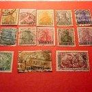 Saar Stamp set 41-58 A16,17,21 March 26, 1920