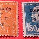 France Scott set #256-7 A20&23 April 23,1930 M/LH/OG