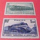 France Scott #327-328 A76-77 Train & Locomotive 1937