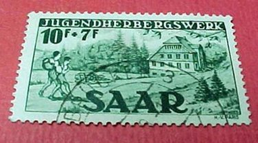 Saar Stamp B66- SP34 Jugendherbergswerk 10f+7f