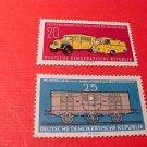 "German GDR Scott's 512-513 A165 ""Modern Postal Trucks"" Oct.6,1960"