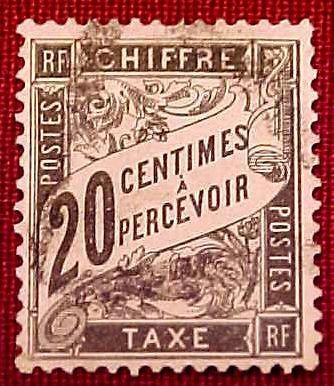 France Scott #J18 D2 Postage Due