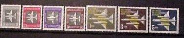 "German GDR Scott's # C1-C7 AP1&2 ""Stylized Plane"" Dec.13, 1957"