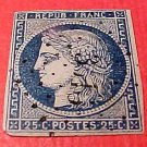 France Scott #6 A1 25c Ceres Bluish Canceled 1849-50