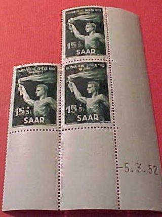 Saar Stamp set Scott #B89 SP44 Mar 29,1952 M/NH/OG