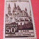 France Scott #674 A216 Abbaye aux Hommes Dec.22 1951