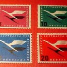 "German Scott's #C61-64 AP1 ""Lufthansa Emblem"" March 31,1955 Full set"