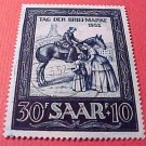 Saar Stamp Scott #B91 SP45 Mar 30,1952 canceled