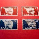 Saar Stamp set 201-202 Dec15,1948 1 set new 1 set used