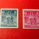 "German Democratic Republic Set 239-240 A67 ""8th Intl Bike Peace Race "",1955"