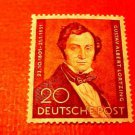 "German Scott's set #9N69 ""Albert Lortzing"" April 22,1951"