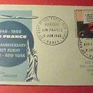 France Scott #1117 A432 First Day Cover 20th Anniv Paris-New York Air France