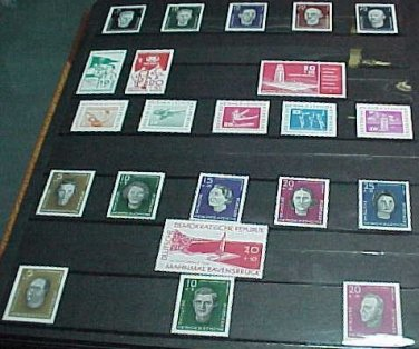 German GDR Scott's Russian Zone #B36-57 SP12-14 In Scott Catalog order 1958-9