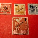 """German Scott's set #9N64-9N67 """"Surcharged Berlin with new value"""" Aug.1,1949"""