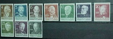 "German Scott's set #9N84-9N93 ""Portraits"" 1952-1953"