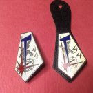 Great Pair of Vintage Enameled French Milittary pins by Drago of Paris G2308