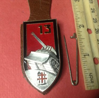 Vintage Enameled French Militaire pin by Arthus-Bertrand of Paris 13th Regiment