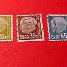 "Saar Stamp set Scott #297,300,301,306 A86 ,1957 with ""F"