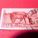 Saar Stamp Scott# B67 SP35 Sept.25,1949 Mare and Foal